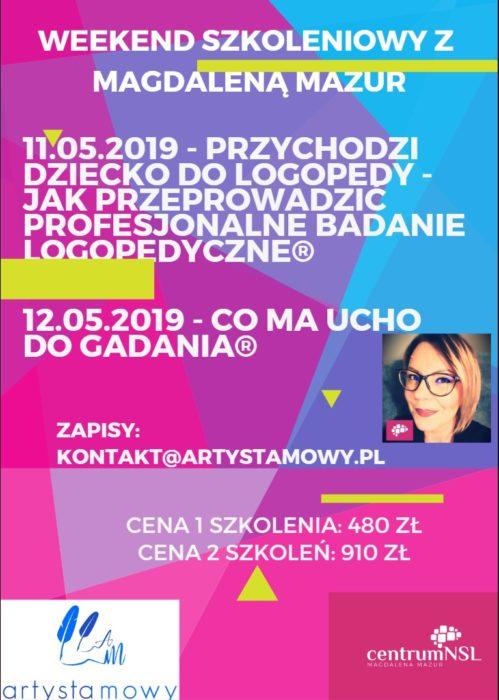 Szkolenie w Warszawie: Weekend szkoleniowy z Magdą Mazur