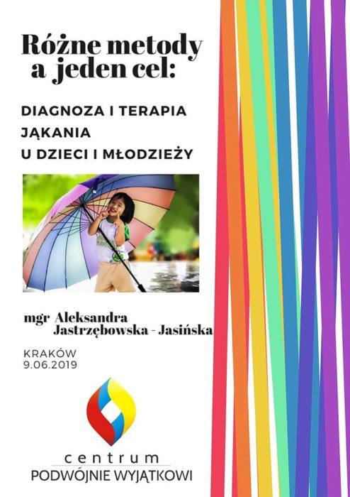 Szkolenie w Krakowie: Diagnoza i terapia jąkania u dzieci i młodzieży – praktyczny warsztat terapeuty jąkania (9.06.2019)