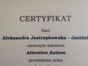 """Cudowne szkolenie """"Attention Autism"""""""