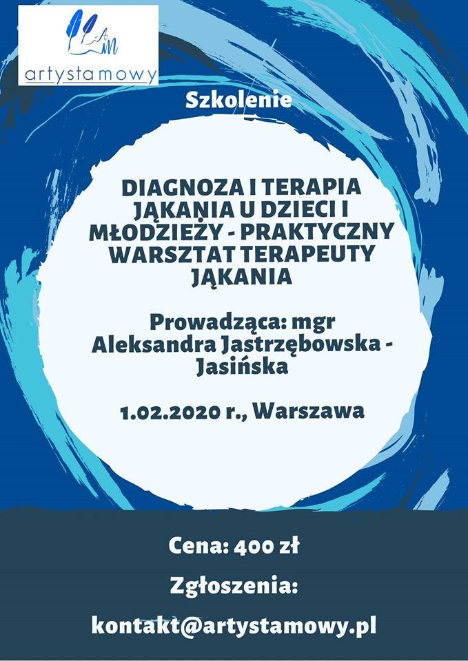 Diagnoza i terapia jąkania u dzieci i młodzieży (1.02.2020)