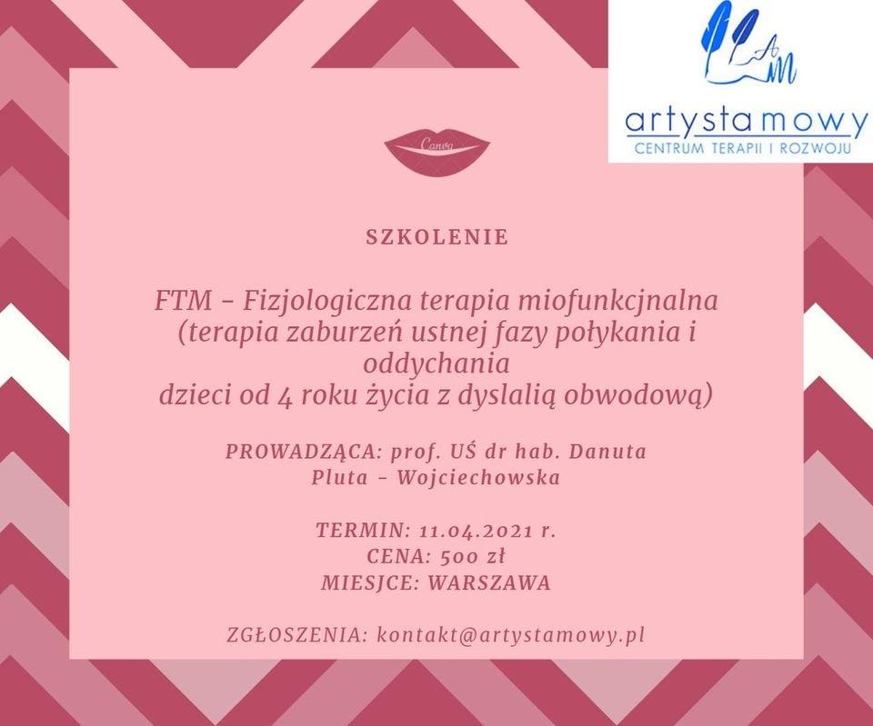 FTM Fizjologiczna Terapia Miofunkcjonalna